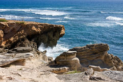Kauai's Rocky Coast Stock Photography