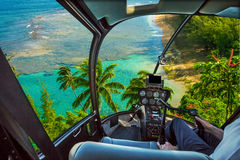 Kauai sceniskt flyg Royaltyfri Foto