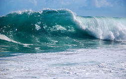Kauai shorebreak Stock Photography