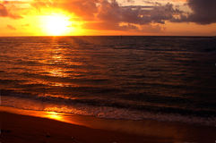 kauai solnedgång Royaltyfria Bilder