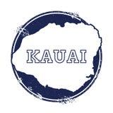 Kauai vektoröversikt Arkivfoto