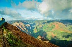 Kauai Waimea kanjon, hawaianska öar Royaltyfri Fotografi