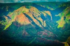 Kauai Waimea kanjon, hawaianska öar Royaltyfri Bild