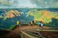 Kauai Waimea kanjon, hawaianska öar Arkivfoto