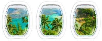 Kauai on window Stock Image