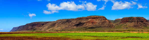 Kauai ziemia uprawna Zdjęcie Stock