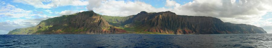 Kauais Küste Na-Pali Stockbilder