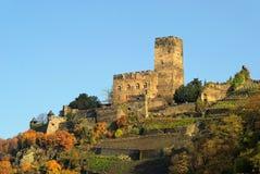 Kaub castle Gutenfels Stock Image