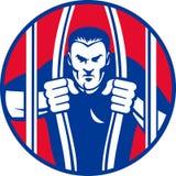 kauci więźnia ucieczki więzienia więzień więźniarski więzień royalty ilustracja
