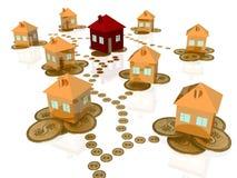 Kauf des neuen Hauses Lizenzfreie Stockfotos