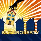 Kauf-Eigentum stellt Illustration Real Estates 3d dar Lizenzfreie Stockfotos