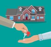 Kauf, Miete oder mieten ein Haus Grundbesitz? Häuser, Ebenen für Verkauf oder für Miete Lizenzfreie Stockbilder