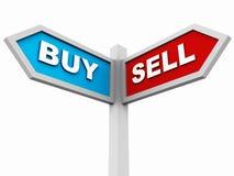 Kauf oder Verkauf Stockfotos