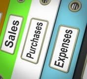 Kauf-Verkaufs-Unkosten-Dateien, die Sätze enthalten vektor abbildung
