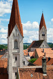 Kaufbeuren. Church and old town of kaufbeuren - bavaria - germany royalty free stock image