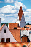 Kaufbeuren. Church and old town of kaufbeuren - bavaria - germany royalty free stock photography