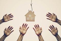 Kaufen eines Hauses stockbilder