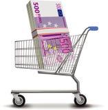 Kaufen, kaufend und leihen Geld aus Stockbilder