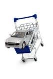 Kaufen Sie Auto-Warenkorb Lizenzfreies Stockbild