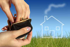 Kaufen Sie Konzept des neuen Hauses Lizenzfreies Stockbild