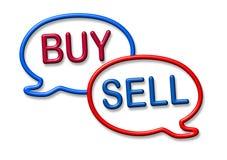 Kaufen Sie und verkaufen Sie Ablagensymbol lizenzfreie abbildung