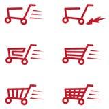 Kaufen Sie Warenkorb-Satz Lizenzfreie Stockbilder