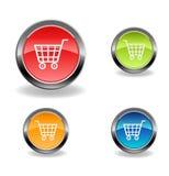 Kaufen Sie Web-Ikonen Lizenzfreies Stockbild