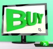 Kaufen Sie Wort auf Computer-Erscheinen-Handel oder Einzelverkauf lizenzfreie abbildung