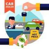Kaufende Auto-Illustration Stockfoto