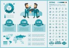Kaufende flache Design Infographic-Schablone Stockbilder