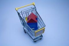 Kaufende Häuser stockbild