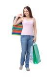 Kaufende hübsche Frau Lizenzfreie Stockbilder