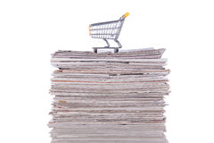 Kaufende Informationen Lizenzfreies Stockbild