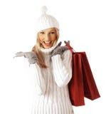 Kaufende reizvolle Frau Stockfotografie