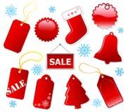 Kaufende rote Marken des Feiertags. Lizenzfreie Stockbilder