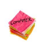 Kaufende Wahlen - Computer Stockfoto