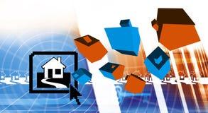 Kaufendes Eigentum auf dem Internet Lizenzfreie Stockfotos