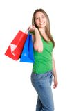 Kaufendes jugendlich Mädchen lizenzfreie stockbilder