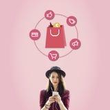 Kaufendes Verbraucherschutzbewegungs-Rabatt-Verkauf-Einkaufskonzept Stockfoto