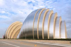 Kauffman Center. KANSAS CITY, USA - JUNE 25, 2013: Kauffman Center for the Performing Arts building in Kansas City, Missouri. Famous building was completed in Stock Photos