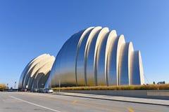 Kauffman mitt för föreställningskonsten som bygger i Kansas City Royaltyfria Foton