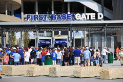 Kauffman Stadion - Kansas City Royals Lizenzfreies Stockfoto