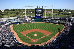 Kauffman Stadion - Kansas City Royals Lizenzfreie Stockfotos
