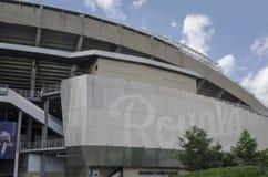 Kauffman Stadium para el equipo de los Kansas City Royals Imagen de archivo libre de regalías