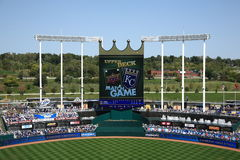 Kauffman Stadium Scoreboard - Kansas City Royals Stock Photo