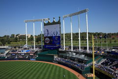 Kauffman Stadium Scoreboard - Kansas City Royals Royalty Free Stock Photography