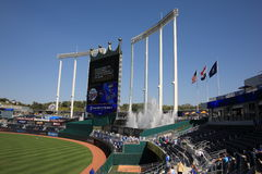 Kauffman Stadium Scoreboard - Kansas City Royals Royalty Free Stock Images
