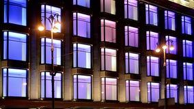 Kaufhaus-Feiertagsbeleuchtung TSUM zentrale, Kiew, Ukraine, stock video footage