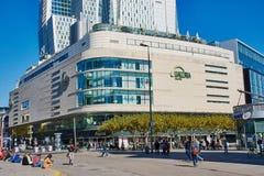 Kaufhof购物中心在法兰克福,德国 免版税库存照片