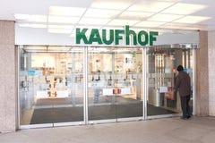 Kaufhof entrance Stock Image